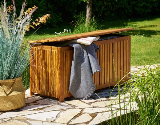 Auflagenbox Akazienholz inklusive Innenplane