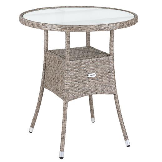 Polyrattan Tisch Creme Ø60cm