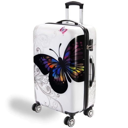 Valise rigide Butterfly avec Cadenas àcombinaison - Taille L