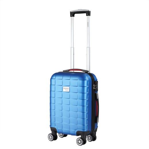 Valise rigide Exopack - Bagage taille M Bleu - Poignée télescopique