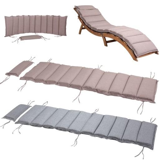 Coussin pour chaise longue avec oreiller 183x56x7cm