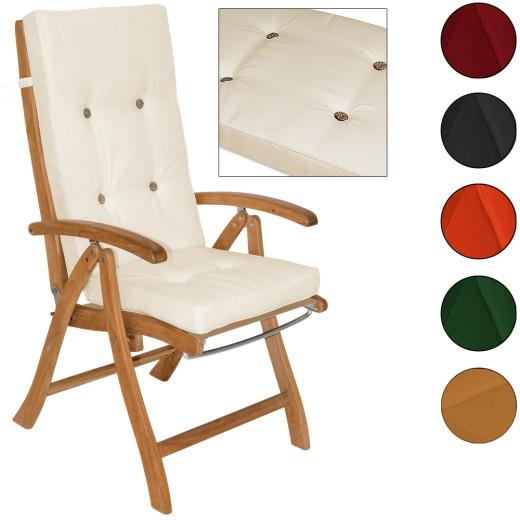 6x Coussins de chaise - 100% Polyester - Pour Chaise à dossier haut