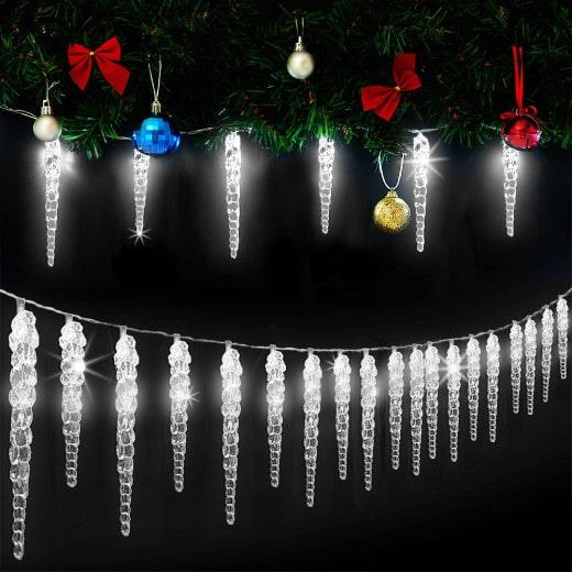 Lichterkette Weihnachten Eiszapfen 40 LEDs 15,4m