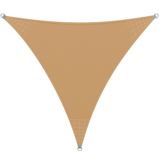Sonnensegel Oxford Dreieck Sand 3x3x3 m