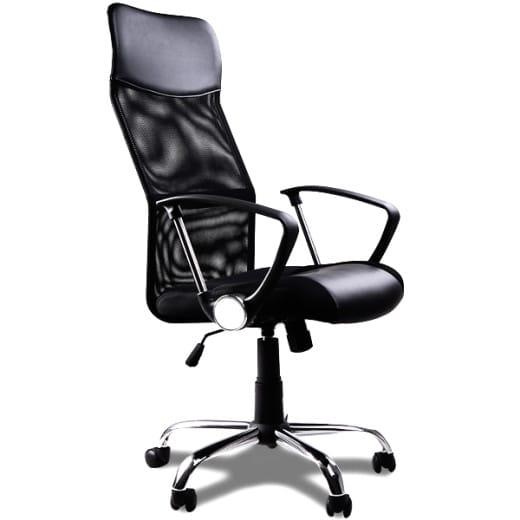 Fauteuil chaise de bureau noire inclinable