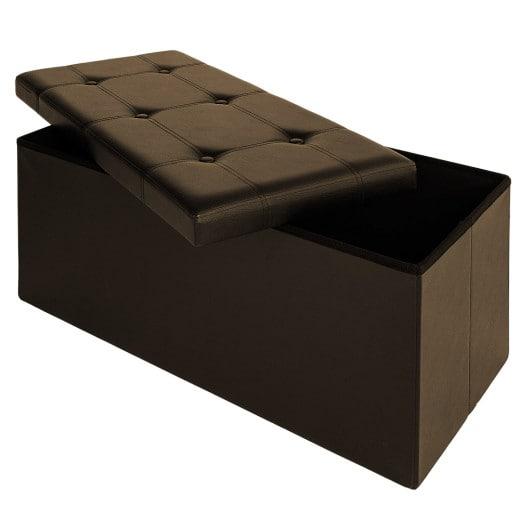 Faltbare Sitzbank/Sitzhocker MDF - 80x40x40 cm braun