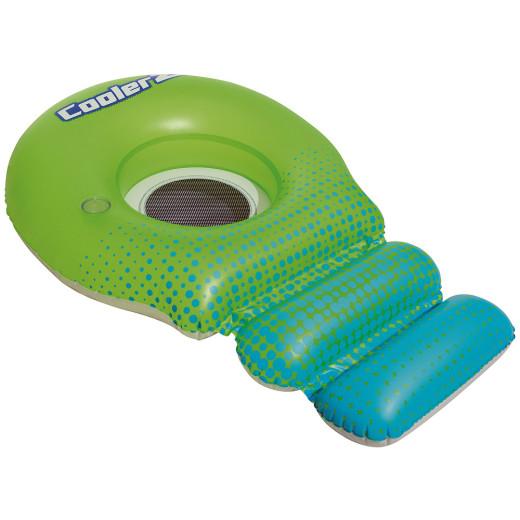 Bouée gonflable vert bleu avec filet fauteuil gonflable piscine lounge