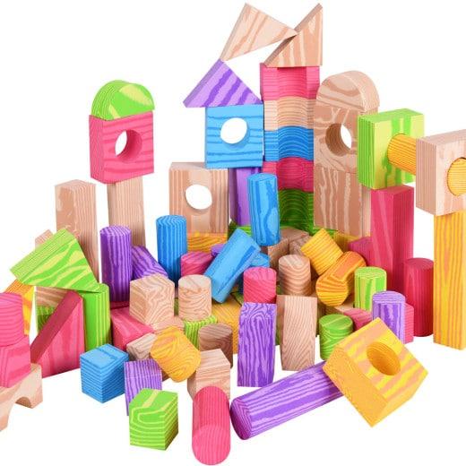 100x briques de construction enfant blocs de jeu