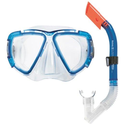 "- Kit de plongée bleu - Masque style aviateur et Tuba - HYDRO-SWIM""¢"