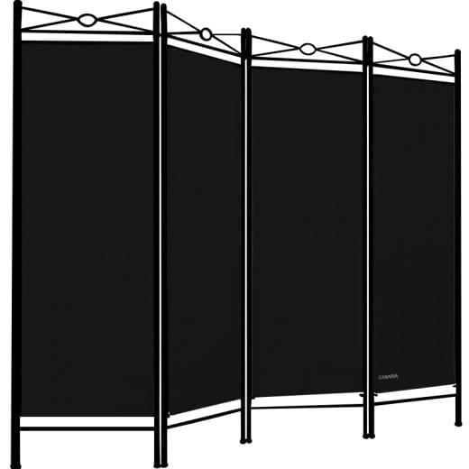 Paravent als Raumteiler in Schwarz 180x163cm