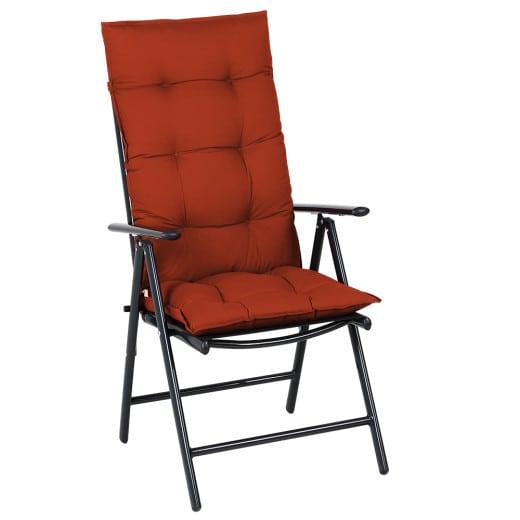 6x Coussins de chaise - 100% Polyester - Pour chaise à dossier haut Vert