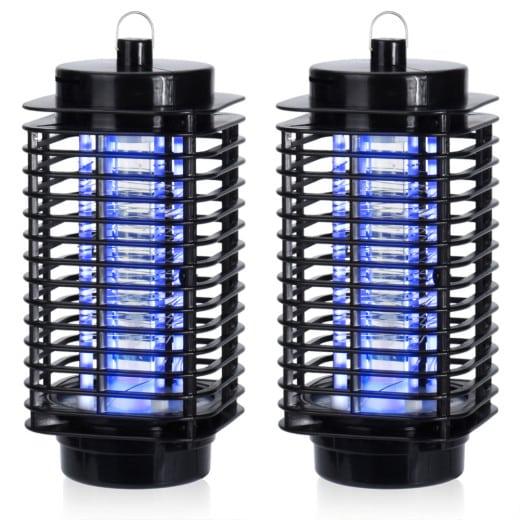 Elektronischer Insektenvernichter 2er-Set Schwarz für je 25m²