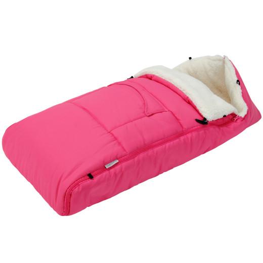 Babyfußsack Pink 93cm für Kinderwagen, Babyschale und Autositz