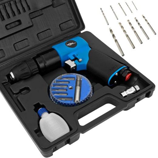 Druckluft-Bohrmaschinen-Set 20 tlg. mit Zubehör und Koffer