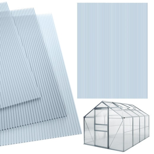 10,25 m² Plaque de polycarbonate creux / Plaques à double paroi,