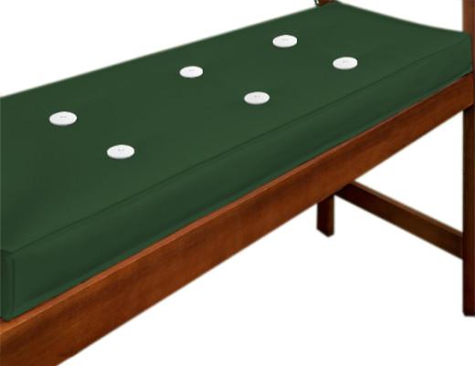 Coussin pour banc Vert- Assise Banc de Jardin- Mobilier de jardin 110x45cm
