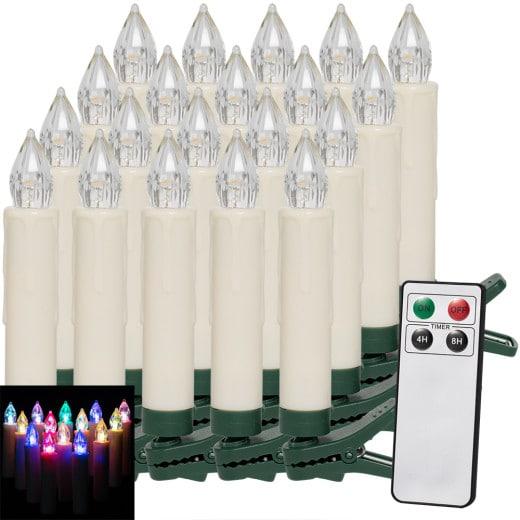 Set de 20 Bougies LED pour Sapin de Noël