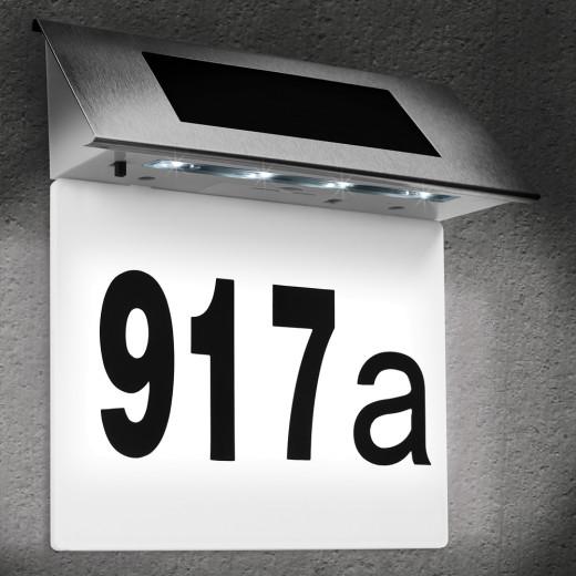 Solar Hausnummer weiß