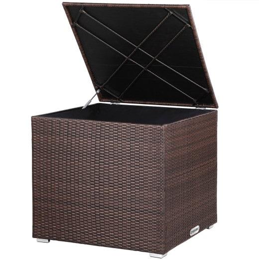 Polyrattan Auflagenbox Braun 75x75x70cm