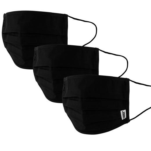 Lot de 3 masques 100% coton Noir