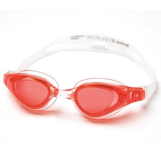 Lunettes de natation 100% sans latex Lunettes de piscine Vacances Rouge