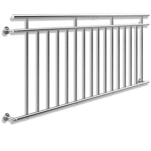 Balustrade de balcon français acier 90x225cm