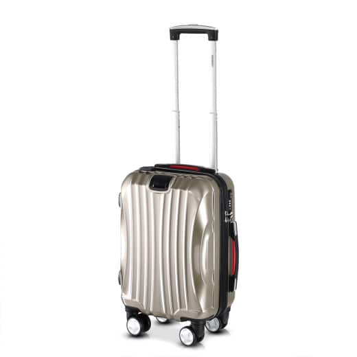 Valise rigide Ikarus taille M champagne - Port usb - Bagage Voyages