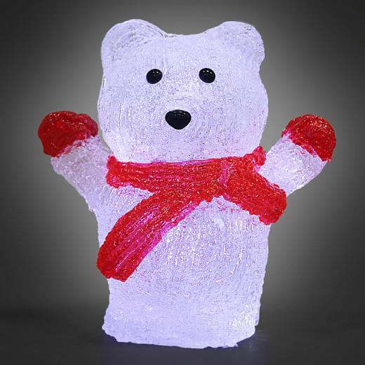 Figurine lumineuse LED acrylique décoration de Noël - Ours polaire