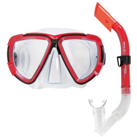 "- Kit de plongée rouge - Masque et Tuba - HYDRO-SWIM""¢"