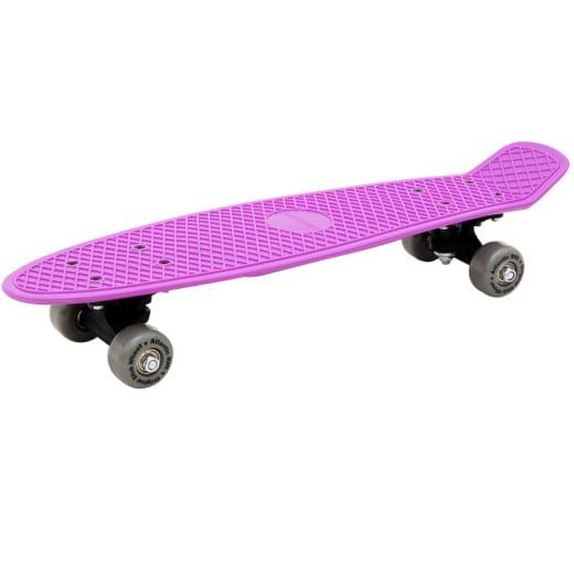 SKATEBOARD Retro Planche à roulettes Design Sport Glisse urbaine Violet Gris