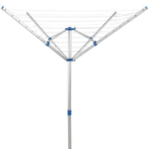 Étendoir séchoir parapluie quadripied en aluminium Réglable et rotatif Jardin
