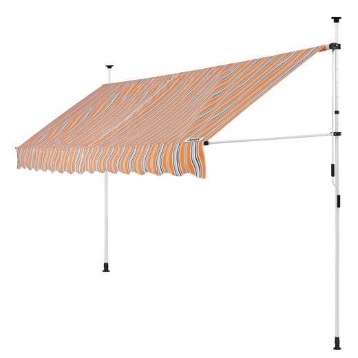 Klemmmarkise Orange/Schwarz/Weiß 400cm