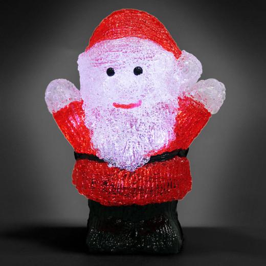 Figurine lumineuse LED acrylique décoration de Noël - Pêre noël lumineux