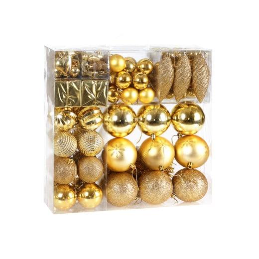 Lot de 103 boules et décorations de noël