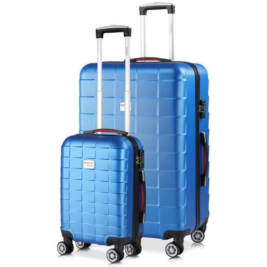 Hartschalenkoffer in Blau mit 38L und 105L