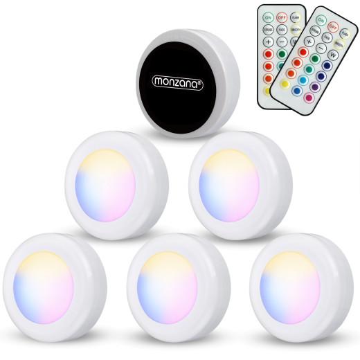 Set de 6 spots lampes LED Éclairage sous meuble Modèle multicolore