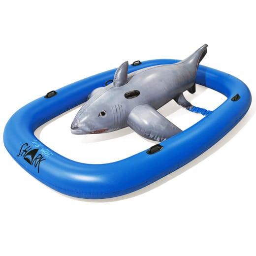 Bouée gonflable requin XXL animal gonflable piscine plage enfant poignée