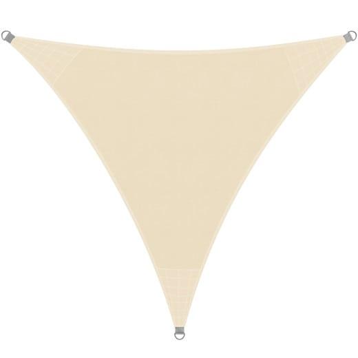 Sonnensegel HDPE Dreieck Creme 3x3x3m