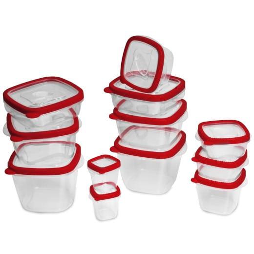 Frischhaltedosen 24-tlg. Rot BPA frei