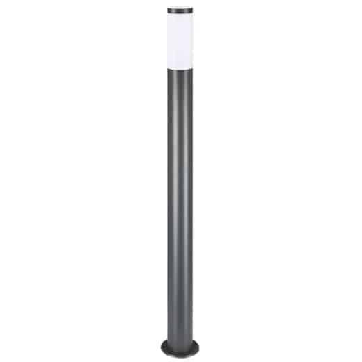 Lampadaire moderne - Luminaire extérieur - Allée, terrasse - Acier inoxydable