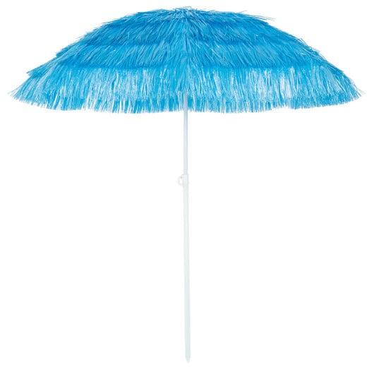 Parasol Hawaii - à~ 160 cm - Bleu - Inclinable pour jardin terrasse plage