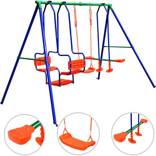 Grande balançoire enfants portique XXL extérieur ensemble jeu jouet accesoires