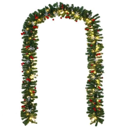 Weihnachtsgirlande 10m mit 160 LEDs inkl. Deko für In/Outdoor