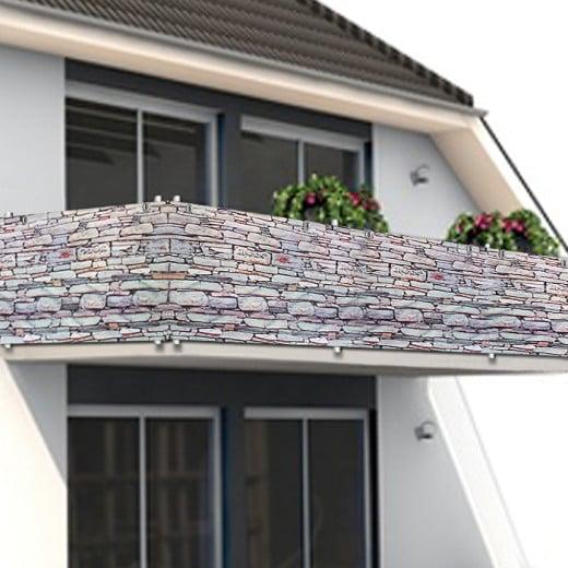 Sichtschutz für Balkon/Gartenzaun Stein 5m