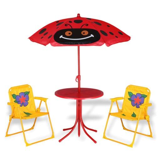 Ensemble Table et chaises pour enfant avec parasol