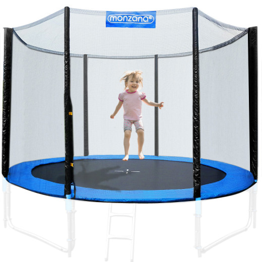 Filet de sécurité pour trampoline - Réseau dense entrée fermable - Ø 183 cm
