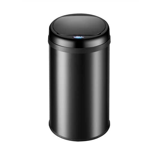 Sensor Mülleimer Edelstahl Schwarz 30 Liter