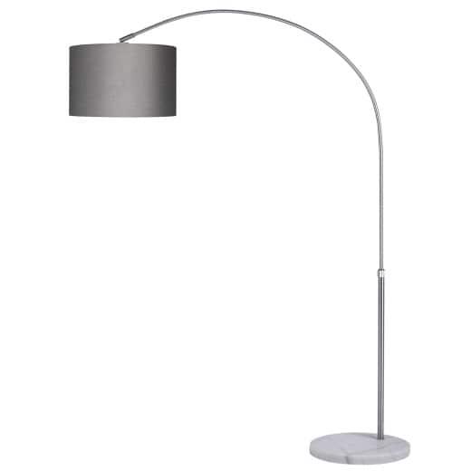 Bogenlampe L mit Marmorfuß