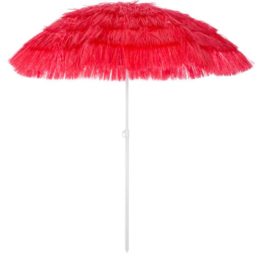 Parasol Hawaii - Ø 160 cm - Rouge - Inclinable
