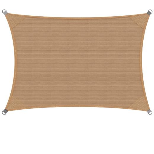 Sonnensegel HDPE Rechteck Sand 2x4m